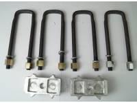 Комплект для лифта (рессора/мост) 40 мм алюминий УАЗ Хантер, Патриот 3-х лист