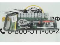 """Набор инструмента 13 предм. (трещеткой 1/2"""", головки 10-22мм, удлинитель 125мм, карданчик) пластик. держатель"""