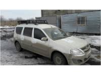 Багажник на Ларгус Вепрь с сеткой 50x50