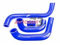 Патрубки радиатора ВАЗ 2121 армированные силиконовые синие (к-т 4 шт)