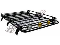 Багажник ВАЗ-2131 сварной с сеткой на 6-ти опорах с боковым ограждением